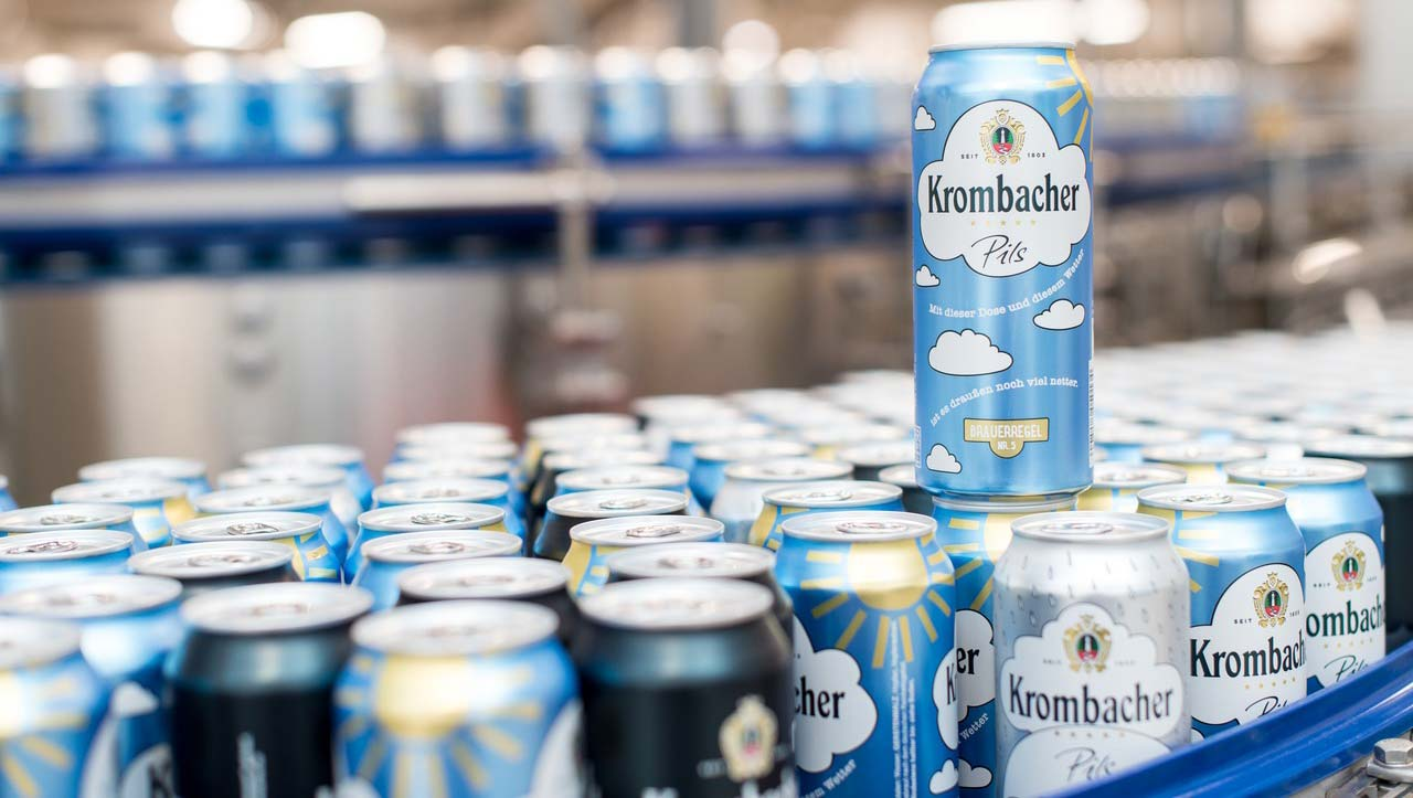 Filling cans a premiere for Krombacher