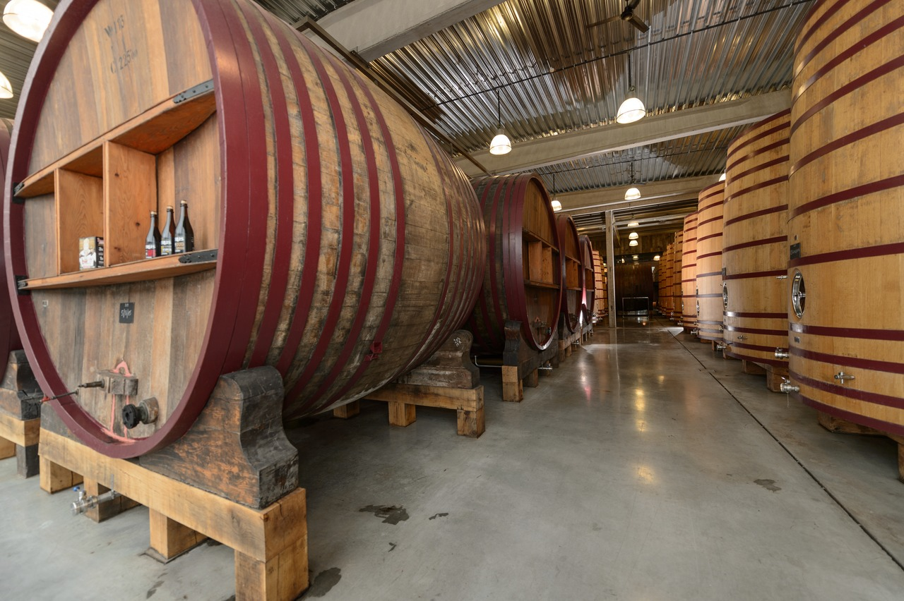 De Brabandere possesses a unique foeder hall, with foeder here meaning big oak barrels each holding 220 hectolitres.