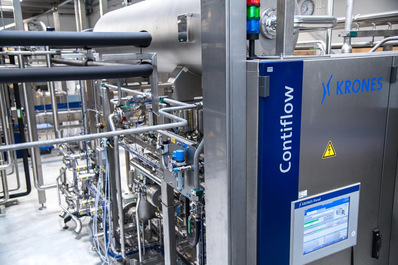 The new line is at present used exclusively for bottling still water – with an option for filling carbonated beverages later, which is why a Contiflow mixer has already been installed.