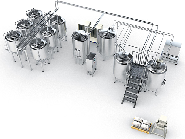 Steinecker Microcube - Brewing system for small batches