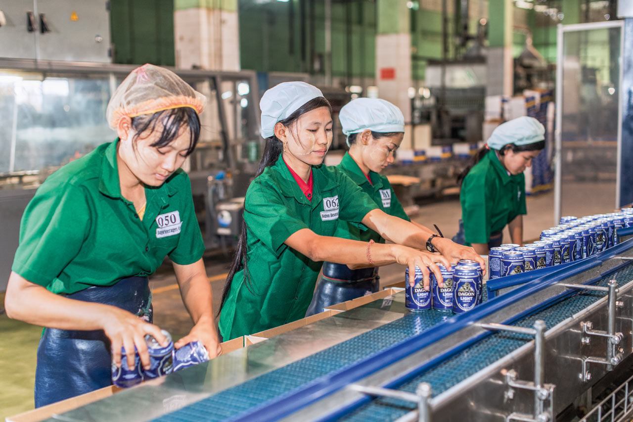 Dagon Beverages Company is Myanmar's second-largest brewery – and is seeing demand for its products rising, particularly in cans.