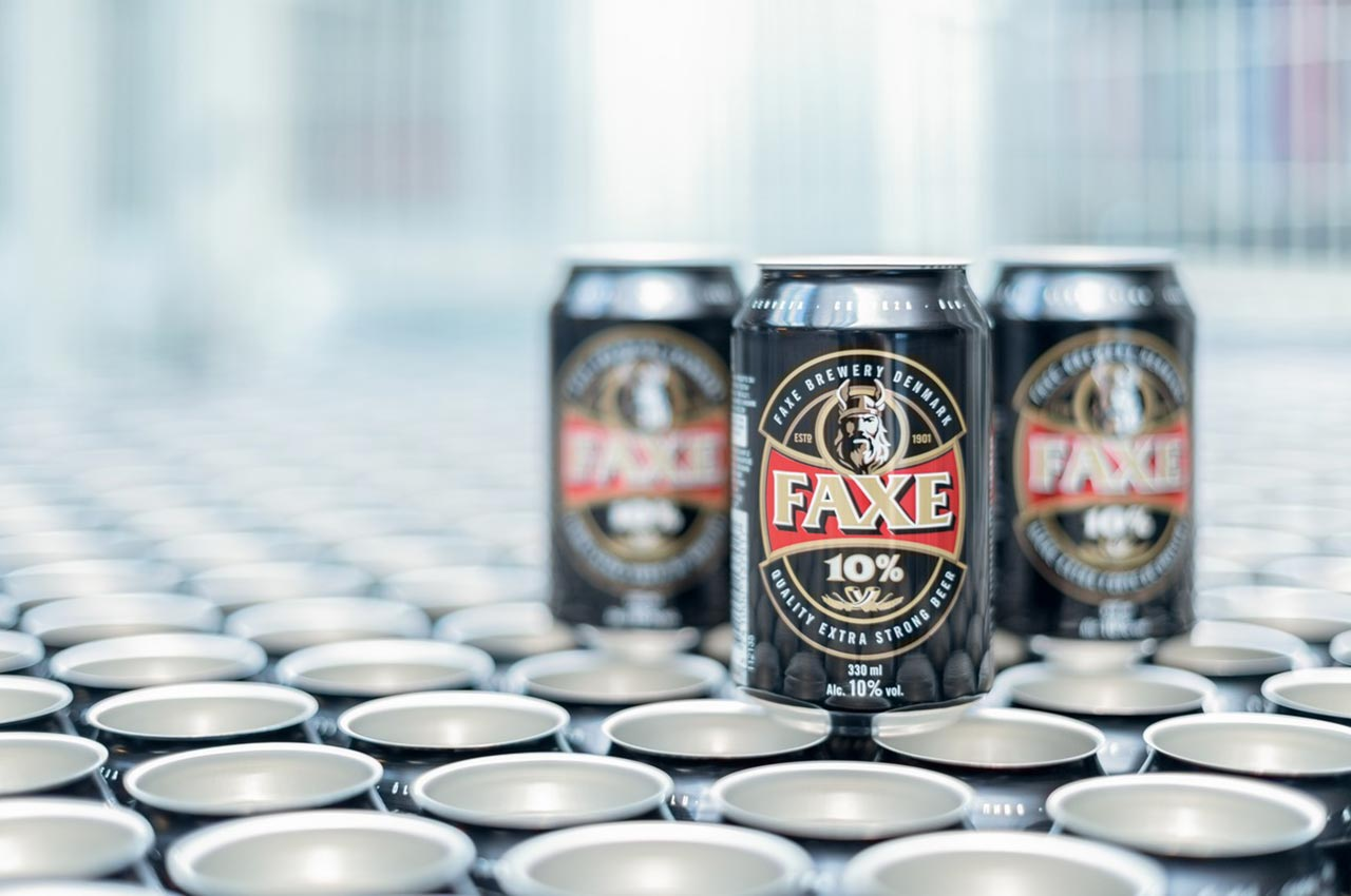 Faxe fills around 70 per cent of its production output in cans.