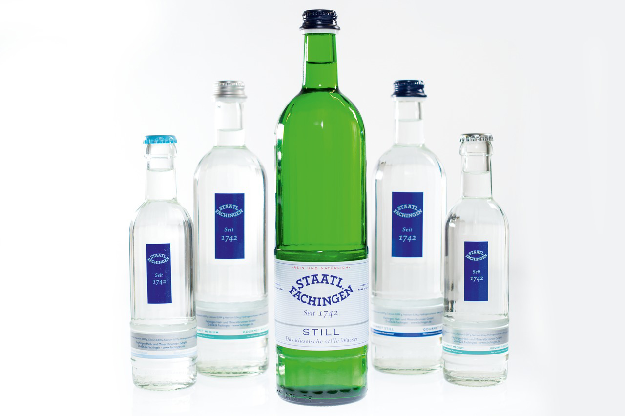 Fachingen focuses on three sorts of water, glass bottles, 100 per cent returnables, and the premium segment.