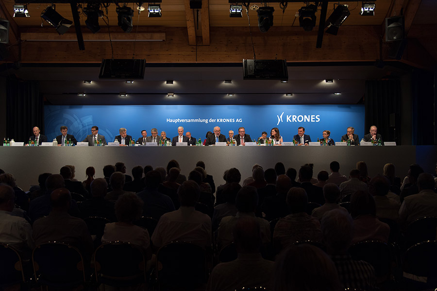 Krones AG's AGM approves all agenda items by a large majority