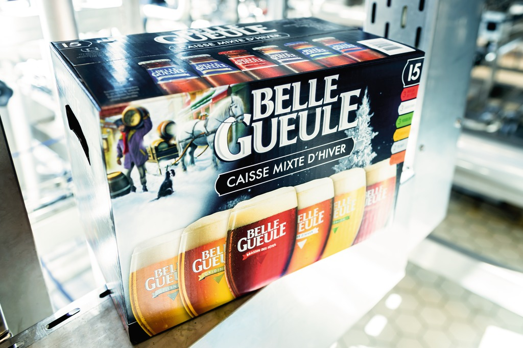Belle Gueule is the principal brand of Les Brasseurs RJ, accounting for about half of total sales.