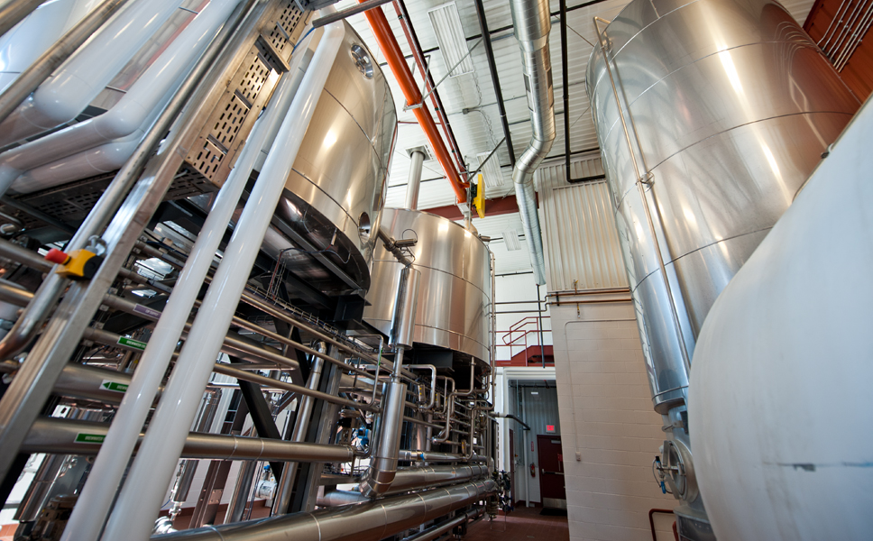 In the autumn of 2011. Founders installed America's first Steinecker CombiCube B brewhouse. Founders mashes directly into the lauter tun with an infusion mash. This means the brewery needs only three vessels: the mash-lauter tun, a wort copper, and a whirlpool.