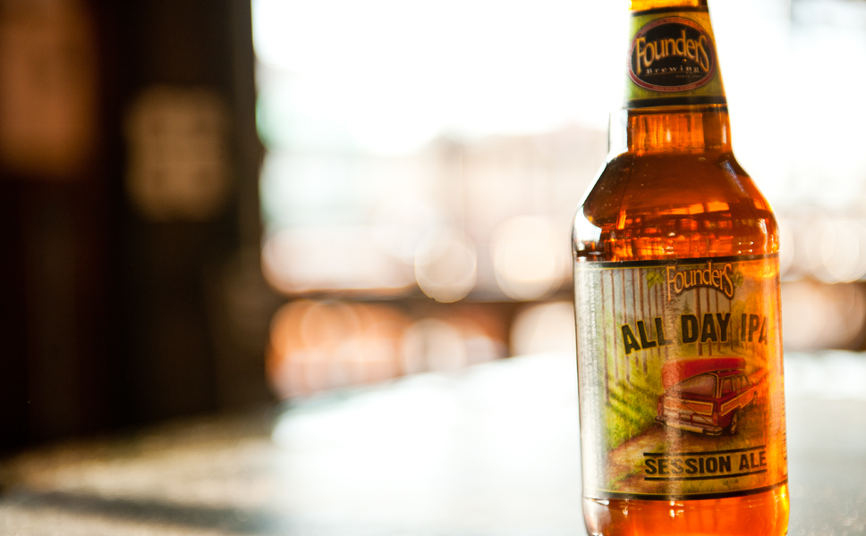 "The latest creation among the regular brands is ""All Day IPA,"" with ""only"" 4.7 % ABV and ""only"" 45 bittering units."