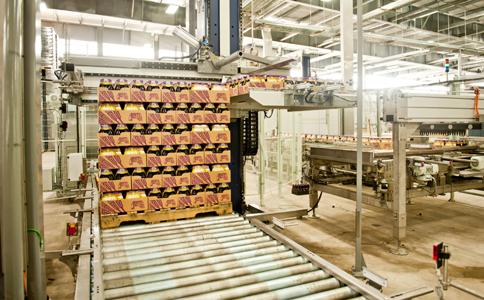 Fully automatic palletising