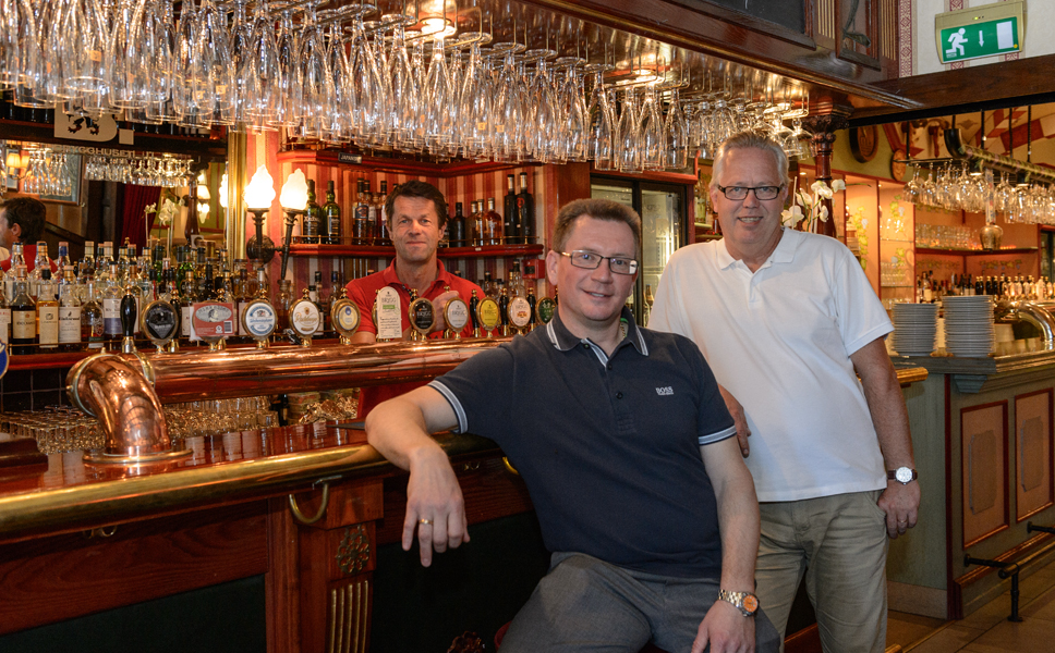 """We were rather impressed."" From left to right: Senior Brewmaster Lennarth Anemyr, Mats Sköldestig, Deputy MD and the director responsible for production and distribution, Technical Manager Gullmar Johannson."