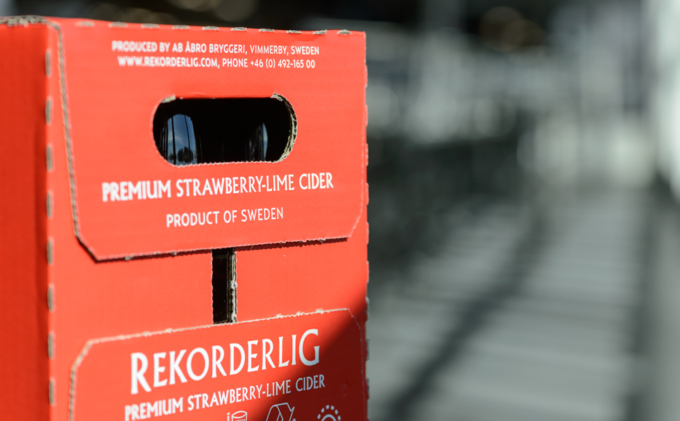"A third of total production output is exported, a fact primarily attributable to the ""Rekorderlig"" cider, which is meanwhile being imported by more than 20 different countries."