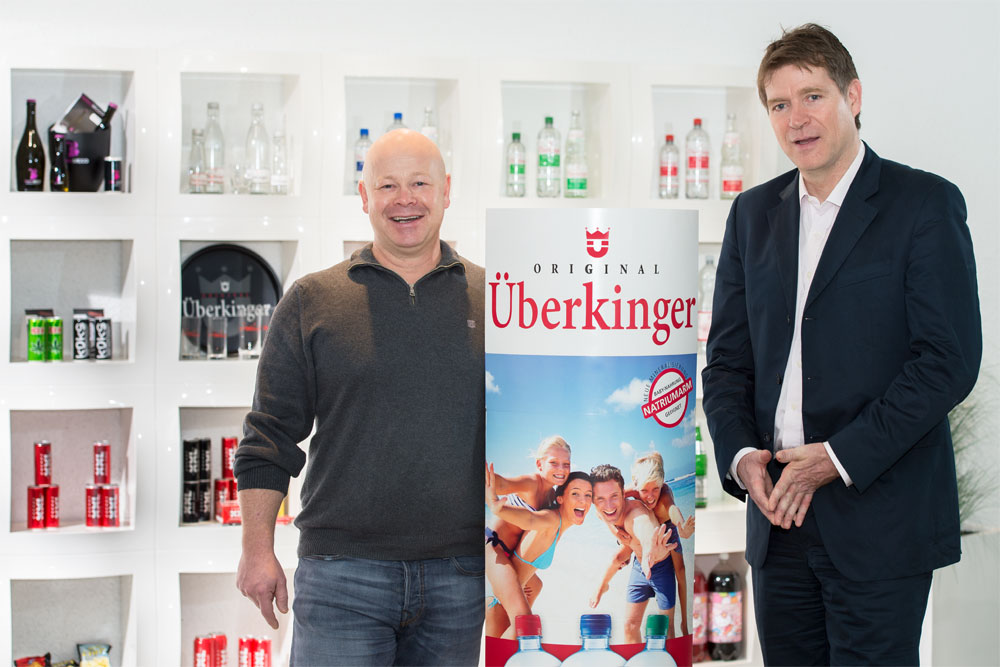 The two managing partners of IQ 4 YOU, Christian Becker (left) and Stefan Tönnesmann, started their own filling operations in Germany by taking over the Überkinger mineral water company.