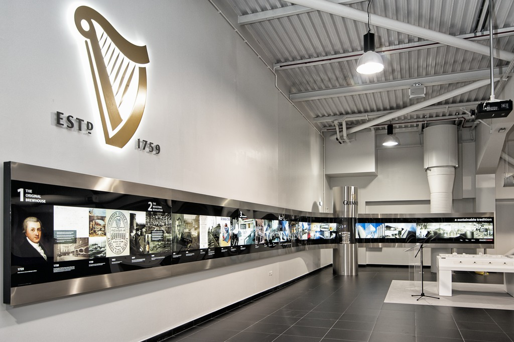 The Steinecker brewhouse is only Guinness's fourth brewhouse in the firm's 256 years of history that was built in Ireland.