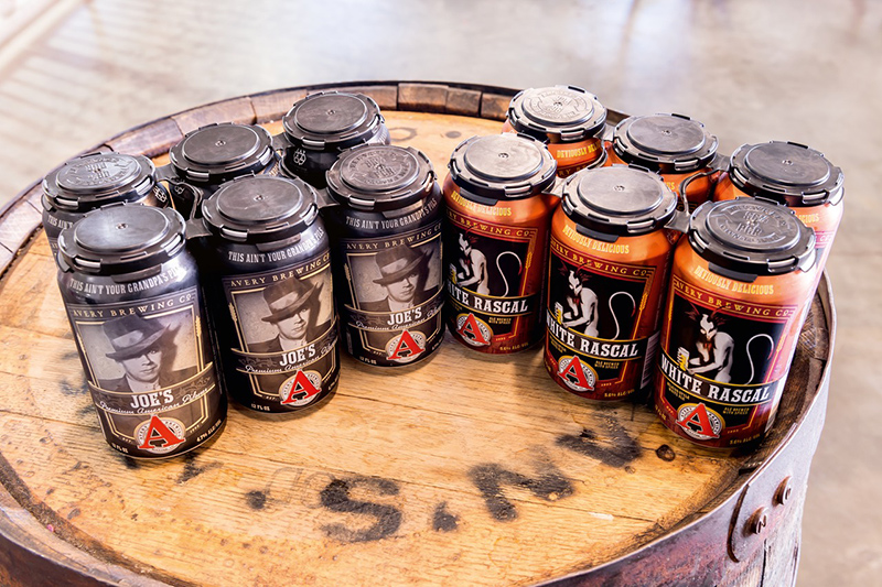In the old brewery, Avery had only been filling four beers in cans. After the Krones can filler had been commissioned, it was possible for Avery to expand its range of canned beer by four brands.