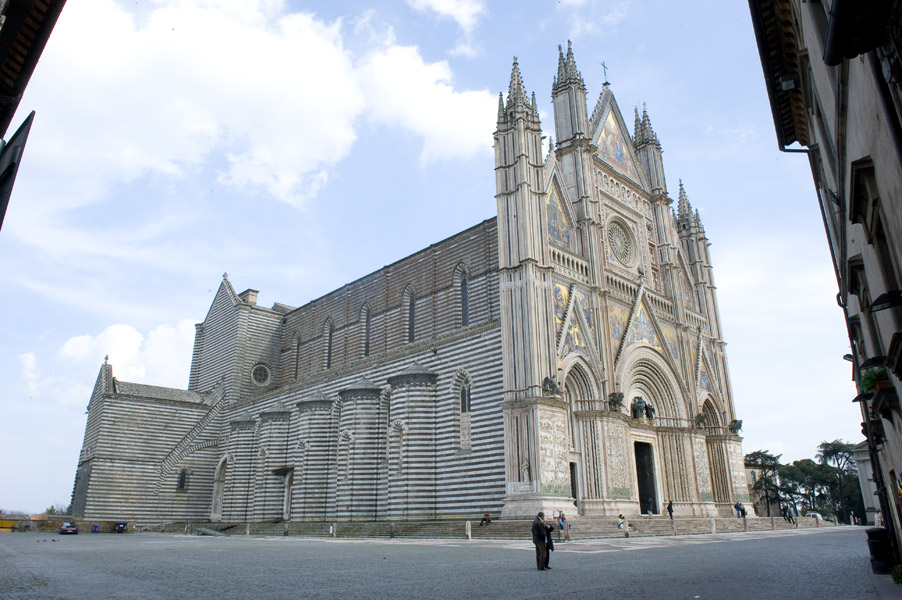 The cathedral of Orvieto, built towards the end of the 13th century
