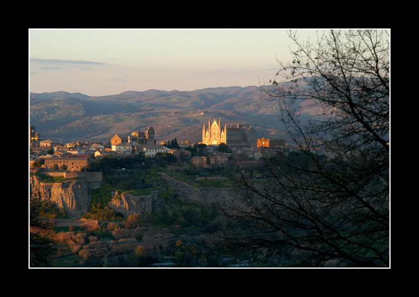 Orvieto with the cathedral
