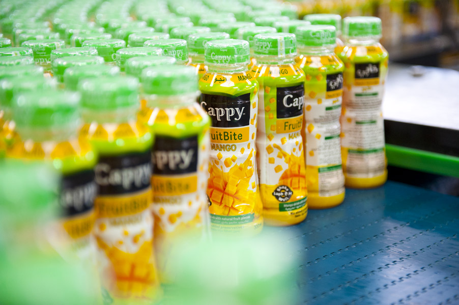 Cappy FruitBite, as the only fruit juice so far being marketed in PET containers, with the additional benefit of the full-fruit content, is offered as a premium product at a higher price.