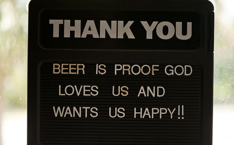 Beer as evidence for God.